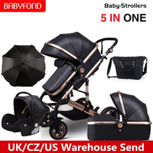 Carriage Baby-Stroller Newborn Babyfond High-Landscape Kid PU with for 5-In-1 Aluminum-Alloy-Frame