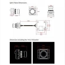 RunCam Split 3 Nano 1080P 60fps HD Recording WDR Low Latency 16:9/4:3 NTSC/PAL Switchable FPV Camera For RC Drone runcam split 3 nano micro 1080p 60fps hd recording wdr low latency 16 9 4 3 ntsc pal switchable fpv camera for rc drone