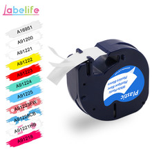 Labelife 1pcs 91200 Compatibel DYMO LetraTag Label Tape Black on White Paper 91200 Marker Ribbons 91330 for DYMO label Printer(China)