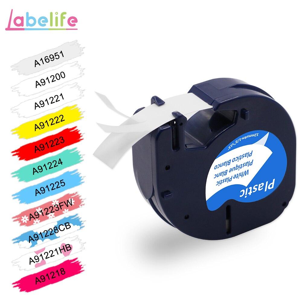 Labelife 1 шт 91200 совместимый DYMO LetraTag этикетка лента черная на белой бумаге 91200 маркер ленты 91330 для печати этикеток DYMO