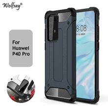 For Huawei P40 Pro Case Shockproof Armor Rubber Bumper Hard PC Phone Case For Huawei P40 Pro Protective Cover For Huawei P40 Pro for huawei p40 pro case ultra thin smooth hard pc back cover for huawei p 40 pro protective phone bumper case for huawei p40 pro