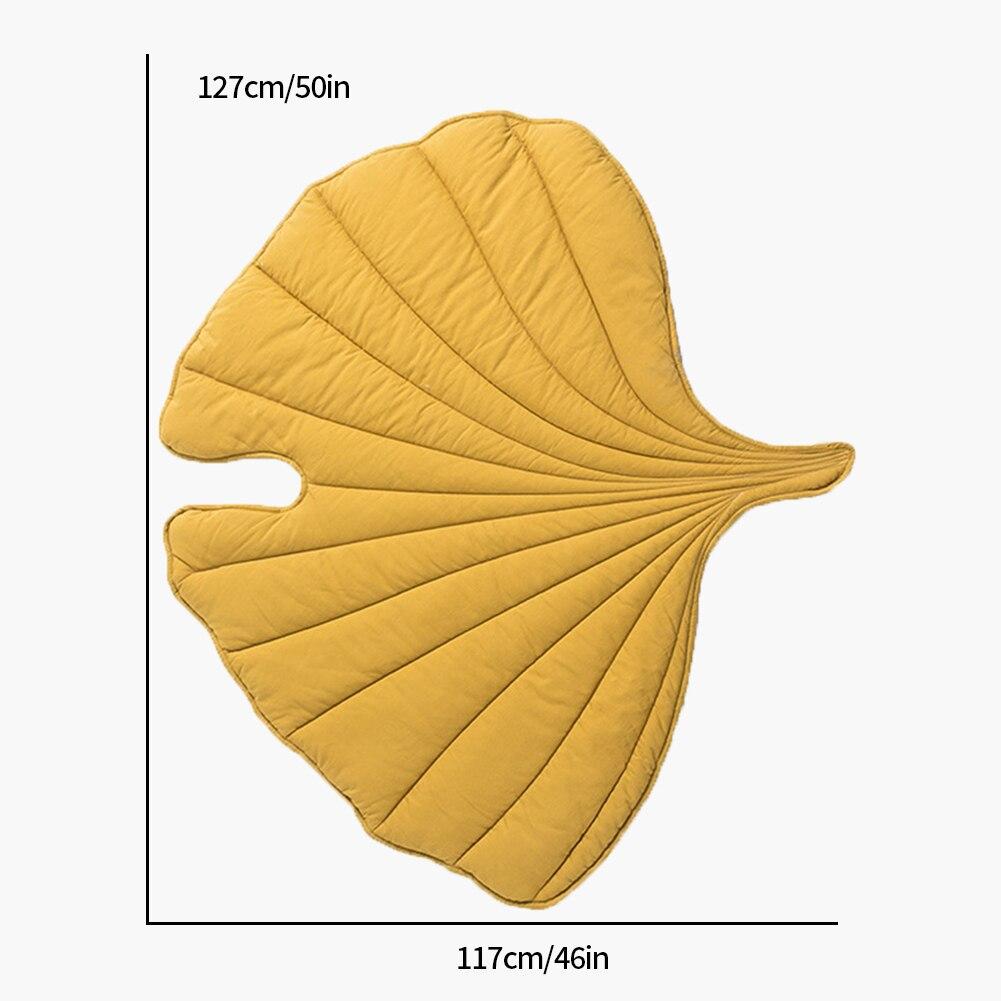 Nordic лист ковер мягкий напольный коврик из хлопка коврики