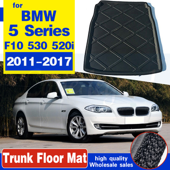 For BMW 5 Series F10 530 520i 2011-2017 Tailored Boot Liner Cargo Tray Rear Trunk Floor Mat Carpet Luggage Tray 2012 2013 2014 fit for volvo xc60 2009 2017 boot mat rear trunk liner cargo tray floor carpet protector 2010 2011 2012 2013 2014 2015 2016