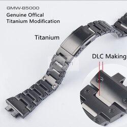 GMW-B5000 Schwarz Titan Legierung Uhrenarmbänder und Lünette Metall-Armband Edelstahl Armband Abdeckung Mit Werkzeuge