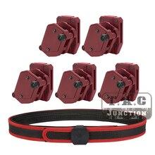 IPSC ensemble Holster + ceinture de 1.5 pouces, ceinture intérieure et extérieure, tir, grande vitesse 3/4/5x, multi angles, pistolet Mag, pochette