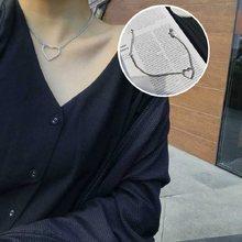 Kingdeng gargantilhas coreia oco amor colares coração cadeias punk festa declaração colar na moda jóias pendentes feminino