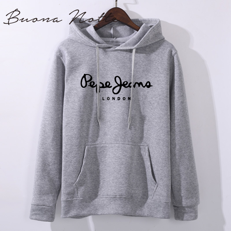 Autumn Winter Fleece Letter Harajuku Print Pullover Thick Loose Women Hoodies Sweatshirt Female Casual Coat