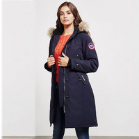 2019 Woman Down Padded Parka Jacket Winter Long Coat Female Canada Ladies Parka Hooded Plus Size Extreme Weather Outwear Mujer