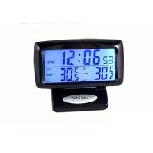 2в1 автомобильный комплект электронные часы термометр цифровой дисплей внутри и снаружи двойной температурный измерительный инструмент с подсветкой 0710
