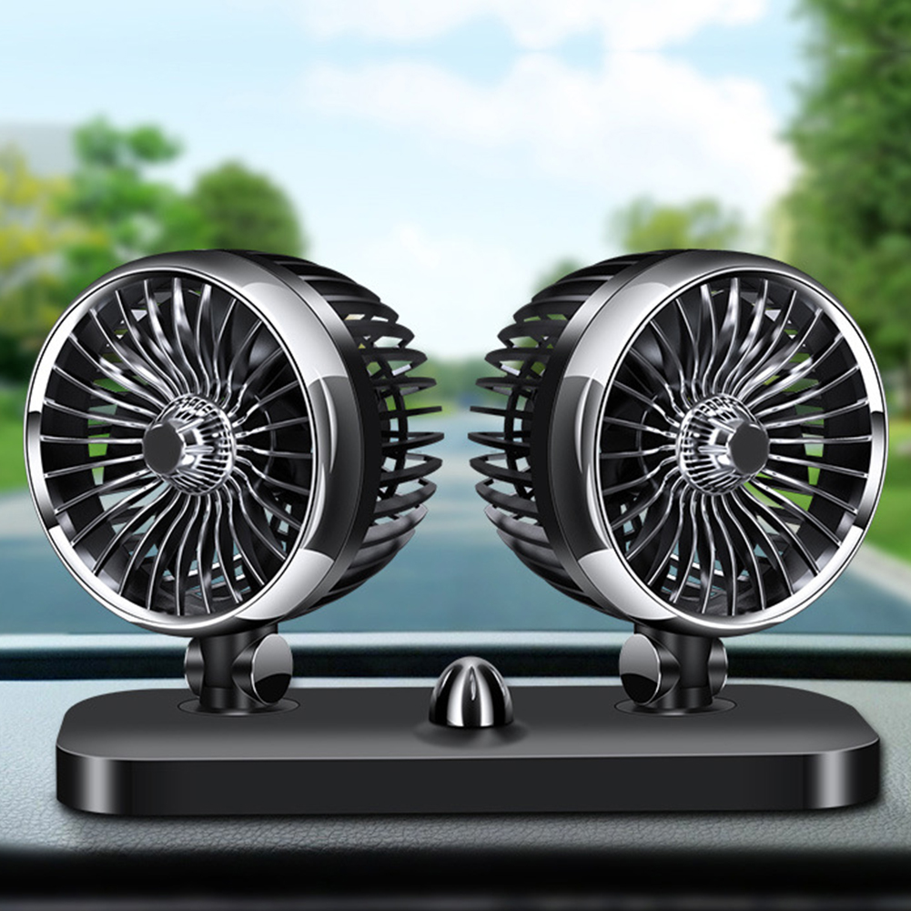 12//24V USB Universal Car Truck Home Fan Cooling Air Circulator with LED UK