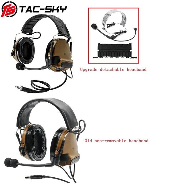 TAC SKY COMTAC III Silicone Earmuffs Noise Reduction Comtac Military  Headset and Tactical PTT Military Adapter u94 ptt   CB