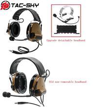 TAC SKY comtac iii silicone earmuffs redução de ruído fone de ouvido comtac militar e tático ptt adaptador militar u94 ptt cb