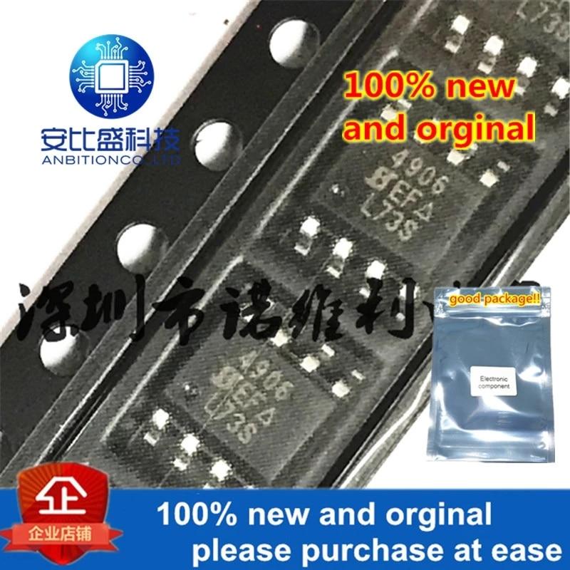 10pcs 100% New And Orginal SI4906DY-T1-E3 SOP-8 SI4906 N 4906 40V 5.3A MOS In Stock