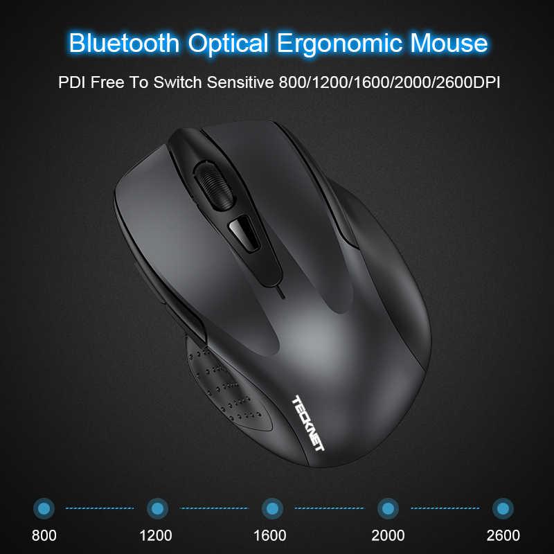 TeckNet ワイヤレスマウス Bluetooth 15 メートルまで 2600DPI 6 ボタン 24 月のバッテリ寿命の Bluetooth マウスラップトップ/Pc/タブレット
