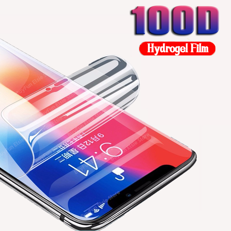 For Apple iphone 12 mini 11 pro max Hydrogel Film Screen Protector on For iphone x xr xs max 7 8 plus Protective Film Not Glass