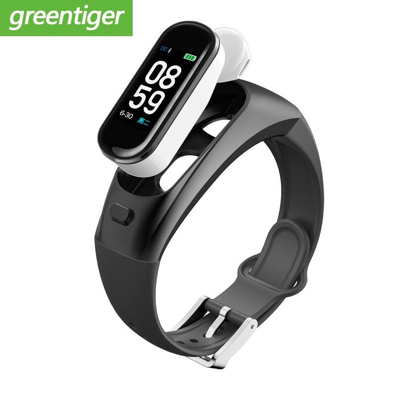 H109 Smart Bracelet Headphones Bluetooth Earphones Watch Pedometer Smart Band Blood Pressure Heart Rate Oxygen Fitness Tracker-in Smart Wristbands from Consumer Electronics    1