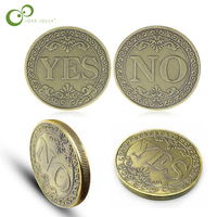 YES or NO Commemorative Coin Floral YES NO Letter Ornaments Collection Arts Gifts Souvenir Kids Toy Gift ZXH