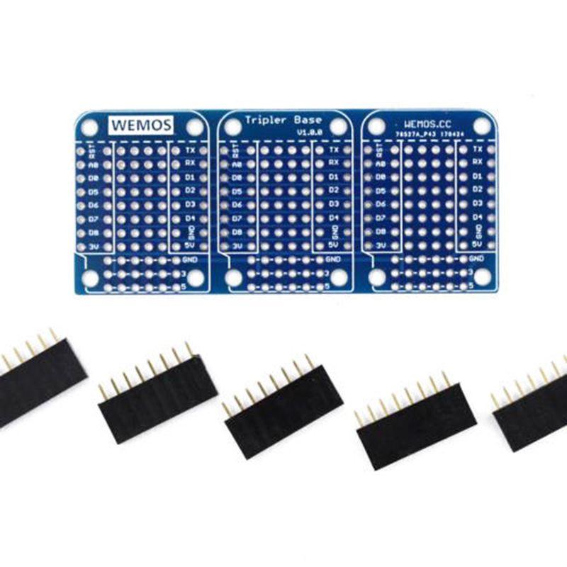Triple Base For WeMos D1 Mini ESP8266 Dua Shield Board High Quality