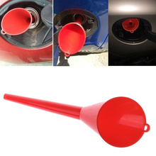Hot!Multi-function Red/Yellow Motorcycle Car Long Mouth Funnel Engine Machine Funnel Fueling Funnel Gasoline Oil Diesel Additive