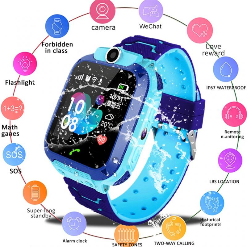 Children's Positioning Smart Watch Q12 Smartwatch For Children Student Anti Lost Smart Watch Voice Call For Android IOS Phones