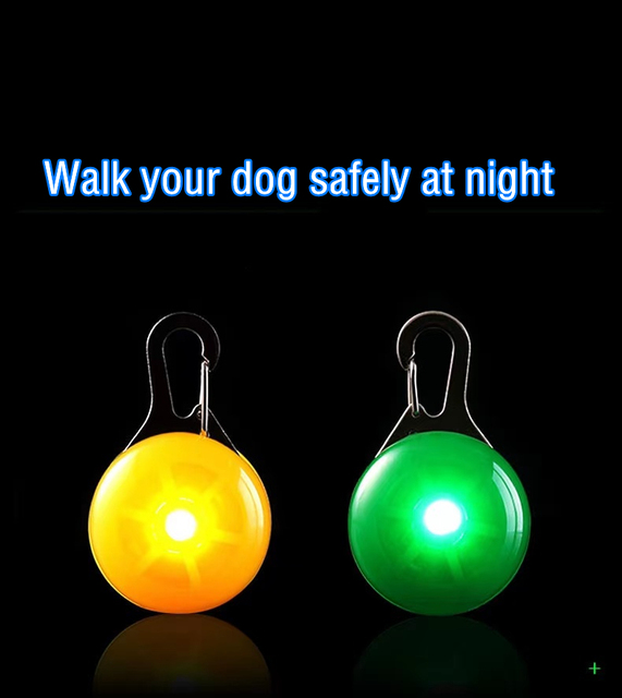 LED Pet Collar Pendant - Dog Cat Puppy Safety - Perfect For Night Walking  4
