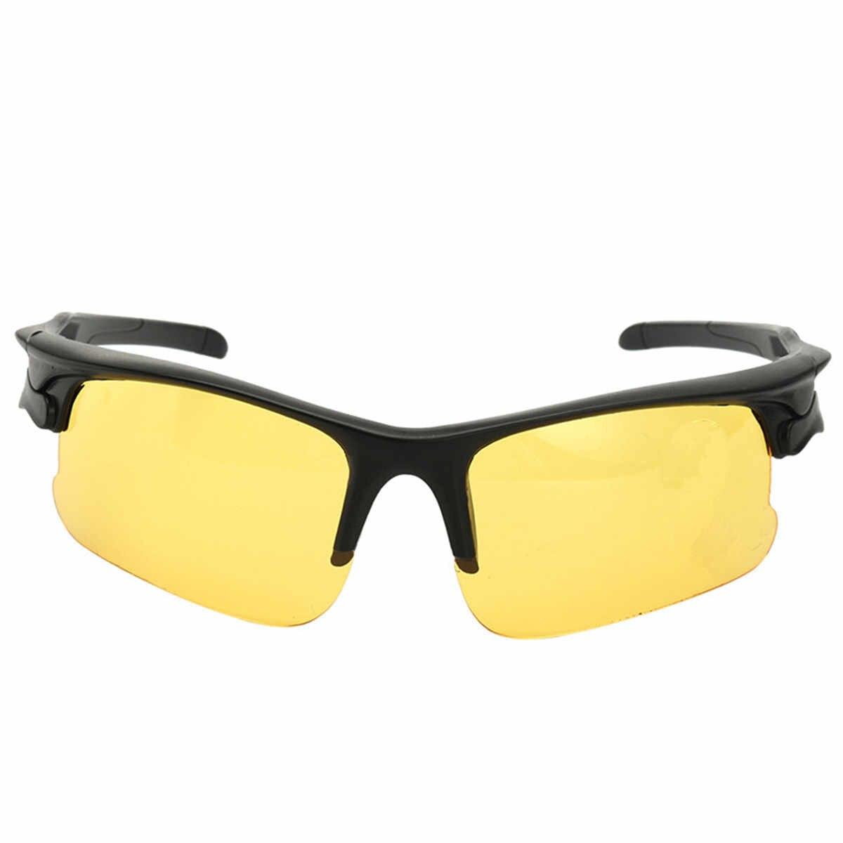 男性メガネアンチグレア黄色サングラス眼鏡メタル夜のゴーグル保護偏光メガネ車の運転