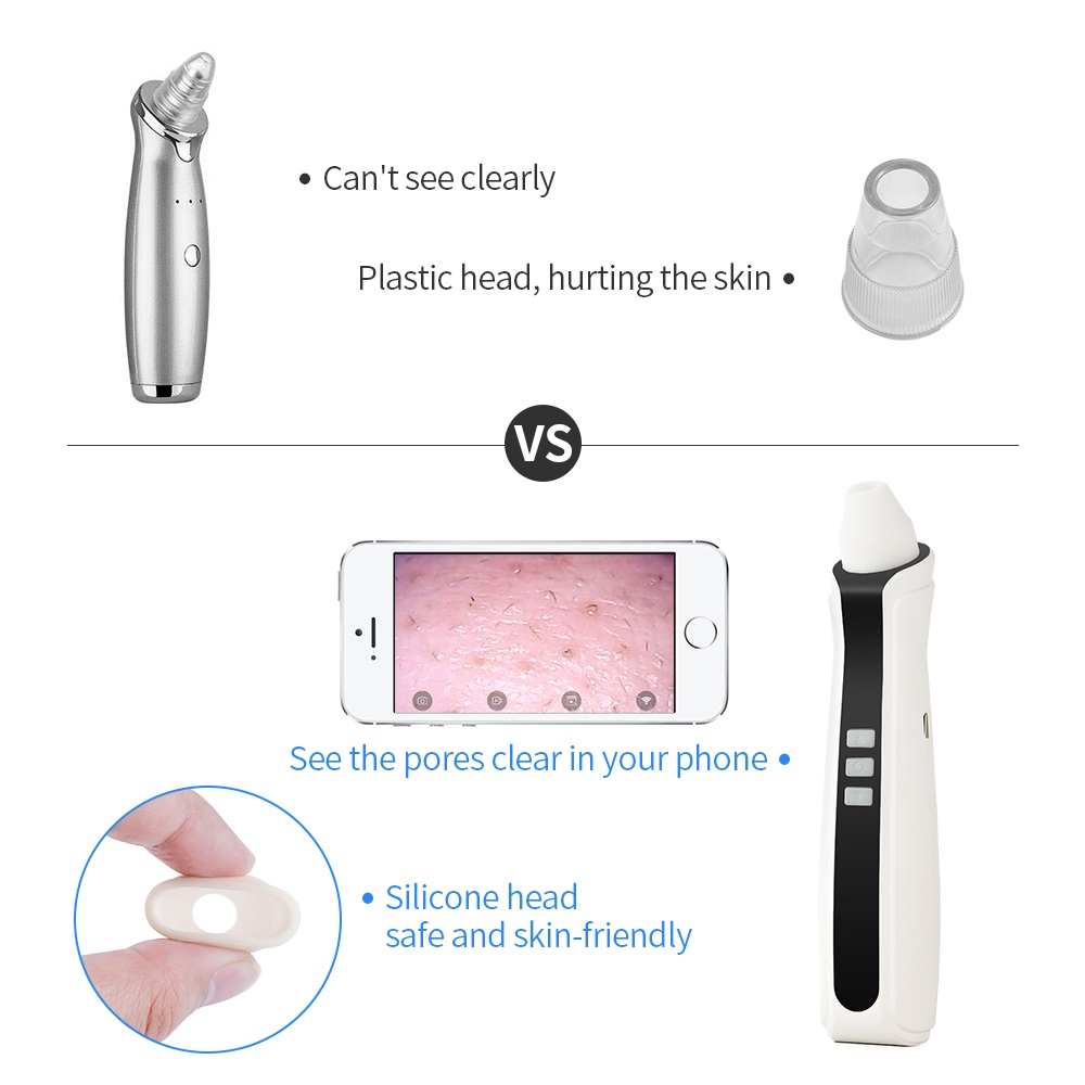 Visual Blackhead Pore Vacuum Remover Cleaner With Wifi Camera