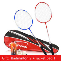 2pcs Professional Badminton Rackets Set Family  Couples Double Badminton Racquet Titanium Alloy Lightest Playing Badminton whole