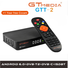 GTmedia GTT2 Android 6.0 Smart TV BOX Amlogic S905D 2G/8G Set Top Box 4K HD H.265 2.4G Wifi media player TV BOX IPTV Youtube M3U цена и фото