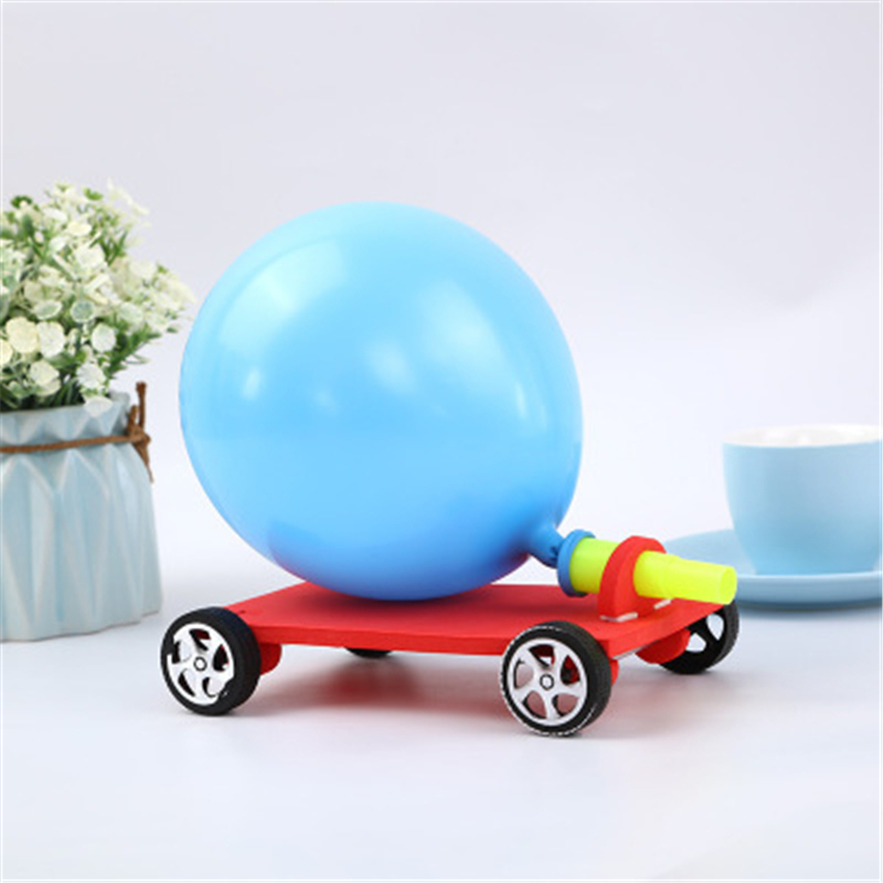 Creative Filler Balloon Racer DIY Balloon Car Scientific Childrens Educational Reaction Car Best Gifts For Kids Craft Toys