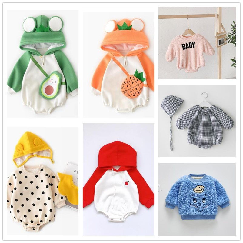 Clearance Baby Bodysuit Baby Girls Clothing Cute Boy Baby Coat Girls Flower Sweater Spring And Autumn Coat