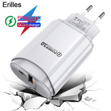 Usb-Charger Mobile-Phone-Charger-Adapter QC3.0 Xiaomi iPhone Samsung Eu/Us-Wall 3A