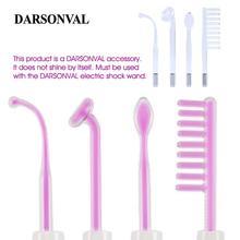 DARSONVAL 4Pcs 고주파 얼굴 유리 튜브 전극 노즐 교체 여드름 스팟 리무버 퍼플 레이 바디 페이스 마사지