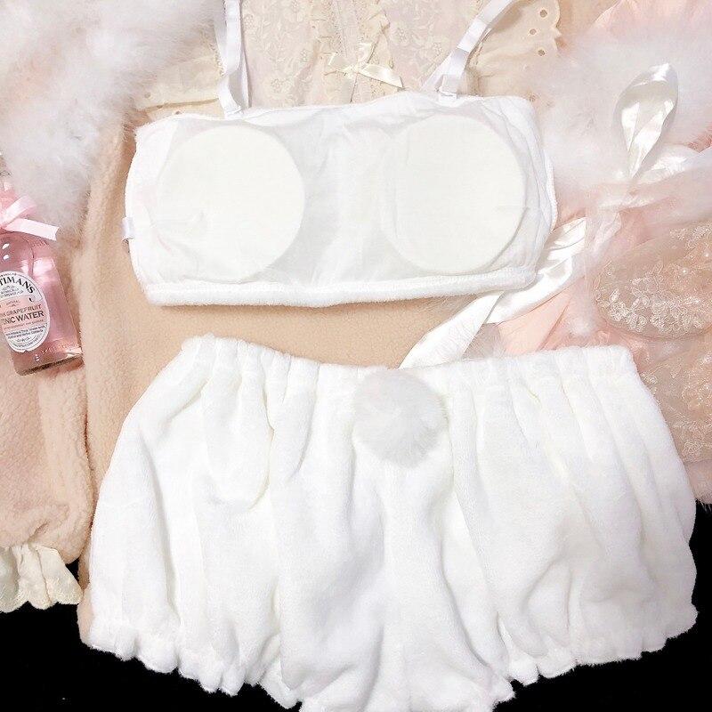 H57f8318ea34543018441874aa8c3d60dE - เสื้อผ้าเซ็กซี่ ชุดนอนน่ารัก ชุดชั้นในสำหรับสาวๆ เด็กสาวกระต่ายน้อย สีขาว สีชมพู COSPLAY Kawaii Cinnamoroll My Melody
