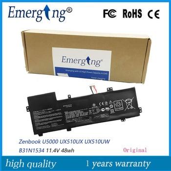 11.4V 48WH Original B31N1534 New Laptop Battery for ASUS Zenbook U5000 UX510UX UX510UW