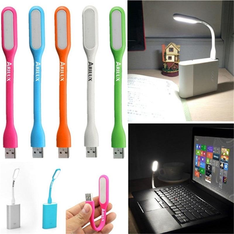 USB LED Book Light Flexible Foldable LED USB Reading Lamp DC 5V Nightlight For Power Bank Computer Notebook Laptop