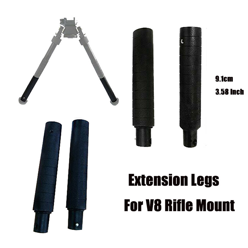 Airsoft Shooting 2pcs Extension Legs 3.58 Inches For Tactical Bipod Accessories