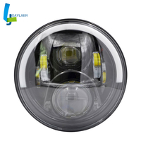 7 60W LED High /Low Beam Headlights Motorcycle LED 6500k Head Lamp For Harley H4 H13 Harness