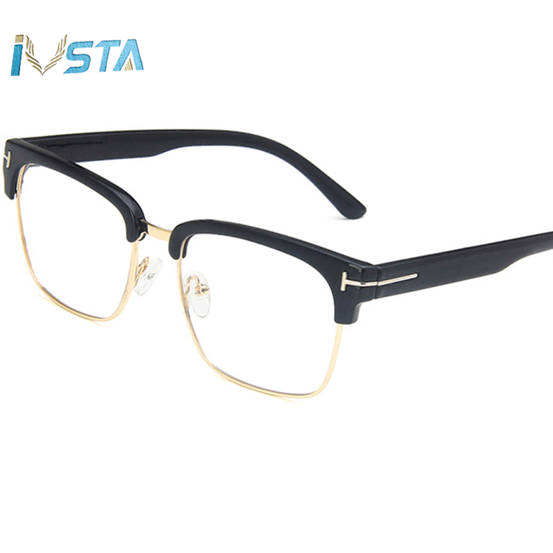 IVSTA TF211 Square Glasses Men Optical Frame Myopia Prescription Brand Design Vintage Reading Korean Big Nerd Oversized Computer