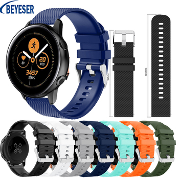 new 20mm silicone strap For Samsung Gear S2/Galaxy 42mm smart watch Quick release bracelet For Samsung Galaxy Watch Active band 20mm watch strap for samsung galaxy watch active sports silicone replacement band for samsung galaxy watch 42mm bracelet belt