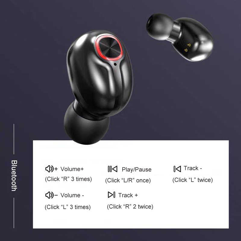 Senza fili di Bluetooth V5.0 Auricolari w display A LED di Caso di Ricarica per Xiaomi iPhone Samsung Sony etc Telefoni Android Handsfree del Trasduttore Auricolare