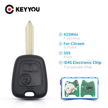KEYYOU Fernbedienung Schlüssel 2 Taste 433 MHz ID46 Elektronische Chip Für Citroen Saxo Xsara Picasso Berlingo Mit SX9 Klinge