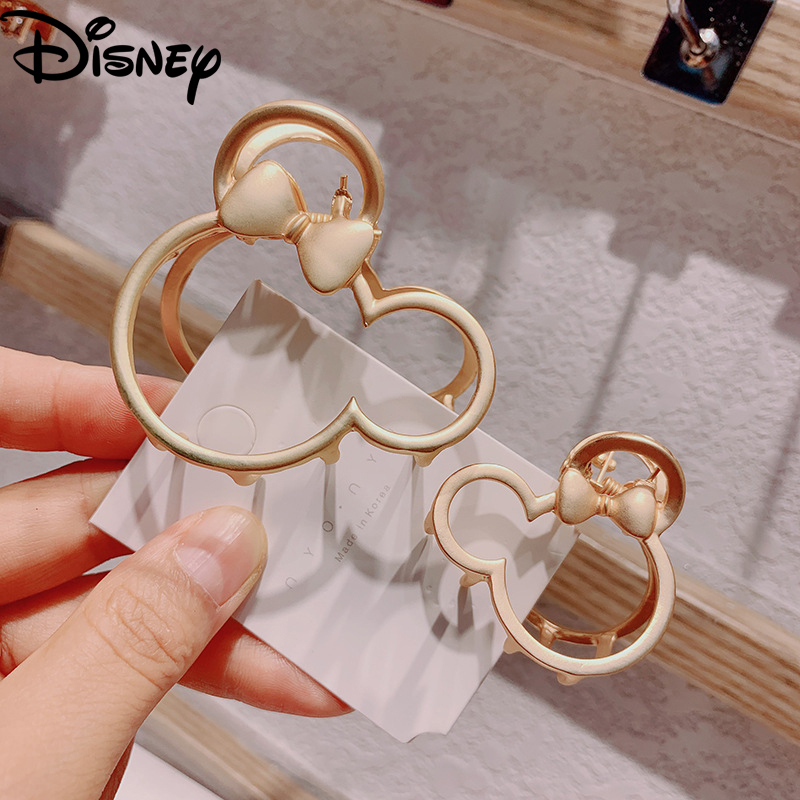 2020 New Fashion Mickey Hair Accessories Women Simple Hair Grip Clips Cute Matte Hollow Grips Girl Alloy Metal Hair Pins Jewelry