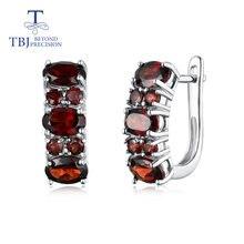 Женские серьги Гранат tbj ювелирные изделия из стерлингового