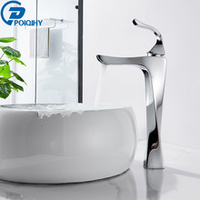 Basin Mixer Bathroom-Faucet Tap Sink-Tap Deck-Mounted Chrome Single-Handle Hot-Water