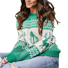 Christmas Jumper Winter Sweater Women Pullover Compute Knitting Woman Causal Camisas Mujer Xmas G7286