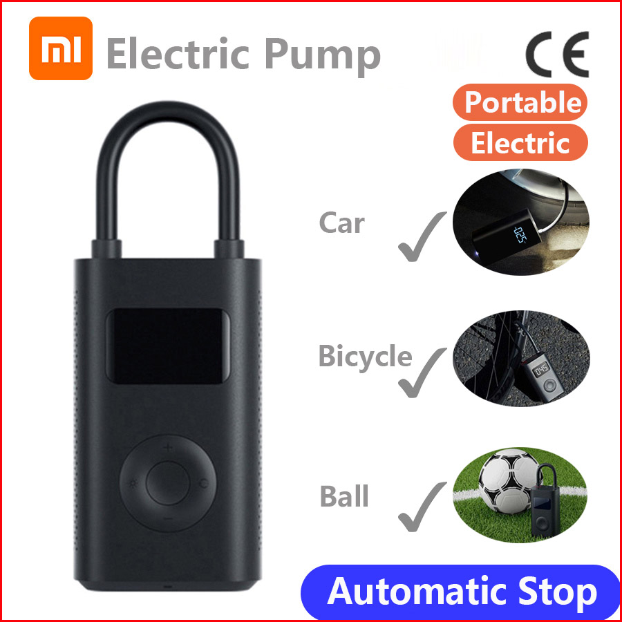 Xiaomi Mi Mijia Portable Air Pump Digital Compressor Tire Pressure Detection Electric Inflator Pump For Bike Motorcycle Car
