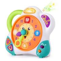 Juguete de aprendizaje del reloj de los niños, Reloj de enseñanza electrónico para niños pequeños, Inglés español bilingüe contando la hora, Juguetes educativos para niños pequeños, Regalo para niña de 2 3 4 5 6 años
