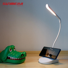 Led Desk Lamps Eye Protect Clamp Clip Light Table Lamp 3W Stepless Dimming Bendable USB Touch Induction Control Study