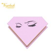 Veyelash 100 pairs custom eyelash packaging box free logo individual false eyelashes 3d mink eyelash